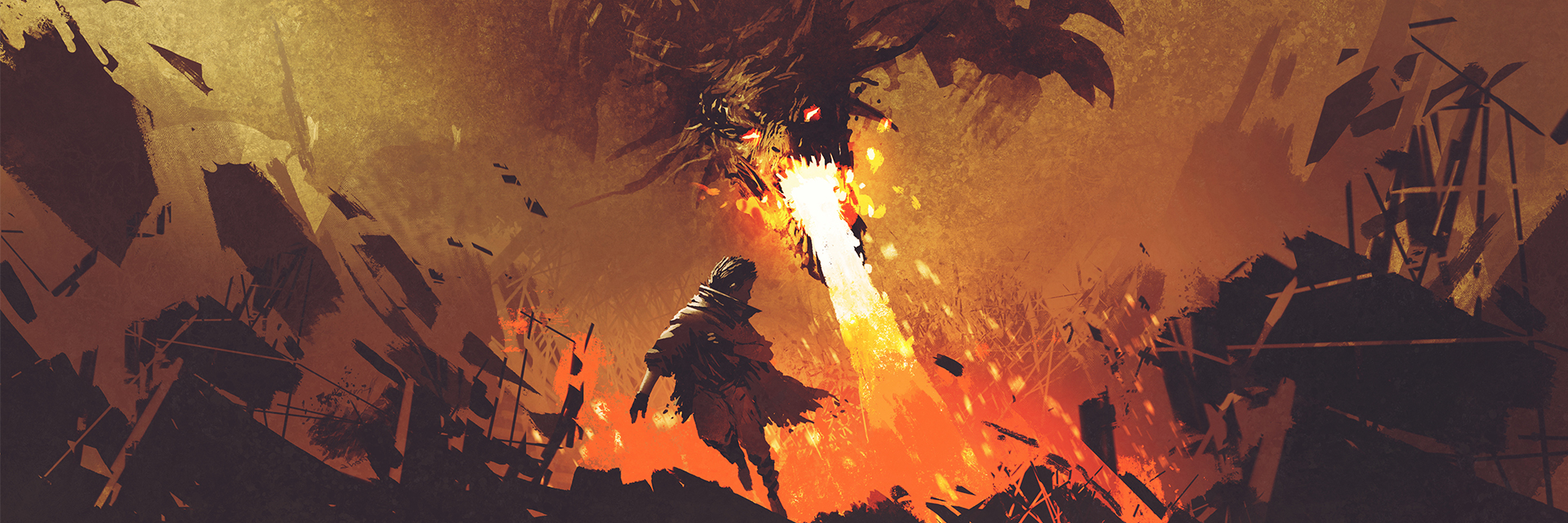 Dragon Fire Boy Running